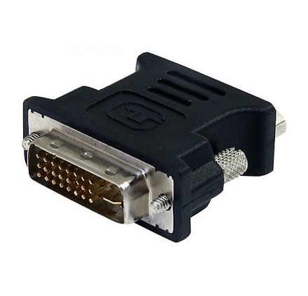 DVI to VGA Cable Adapter - Black - M/F